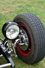 Tyre and headlight on classic tyre
