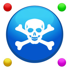 Skull icon button
