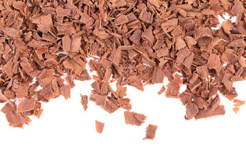 Grated chocolate.