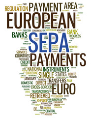 SEPA - Single Euro Payments Area concepts isolated on white