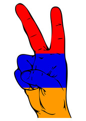 Peace Sign of the Armenian flag