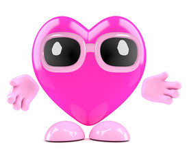 3d Heart is friendly