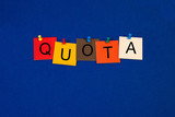 Quota - Business Sign