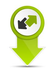 Schild Pin grün Pfeile