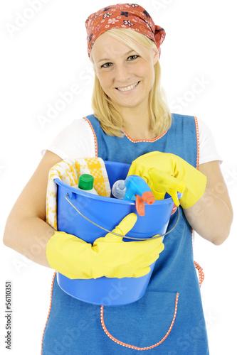 putzfrau mit putzeimer stockfotos und lizenzfreie bilder auf bild 56110351. Black Bedroom Furniture Sets. Home Design Ideas