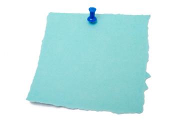 Blauer Merkzettel
