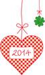 neujahrsherz 2014 glücksbringer