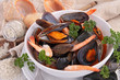 mussel,clam and shrimp soup