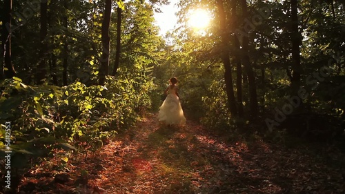 Beauty Princess Fairy Tale Running Forest Young Woman HD