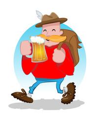 Friendly beer drinker