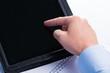finger auf dem touchpad