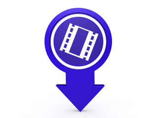 film arrow icon on white background