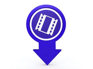 film arrow icon on white background