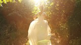 Young Woman Beauty Running in Forest Runaway Bride Concept poster