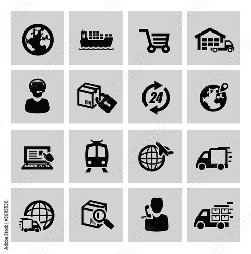 logistic and shipping icon