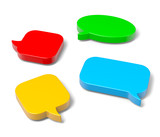 3D Speech Bubble Set