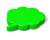 Green 3D Cloud Speech Bubble