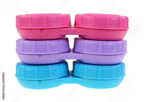 Contact Lense Cases Stacked