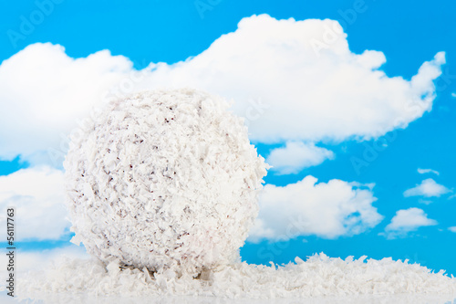Snowball isolated over white background