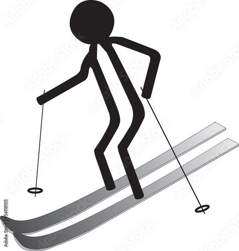 man on ski