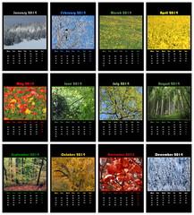 Nature calendar for 2014
