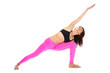 Pretty Woman in Yoga Pose - Extended Side Angle Position.