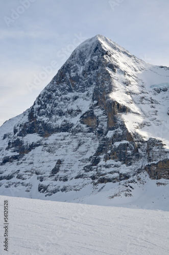 The North face of Eiger in the Bernese Alps, Switzerland
