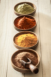 Line of colourful spices