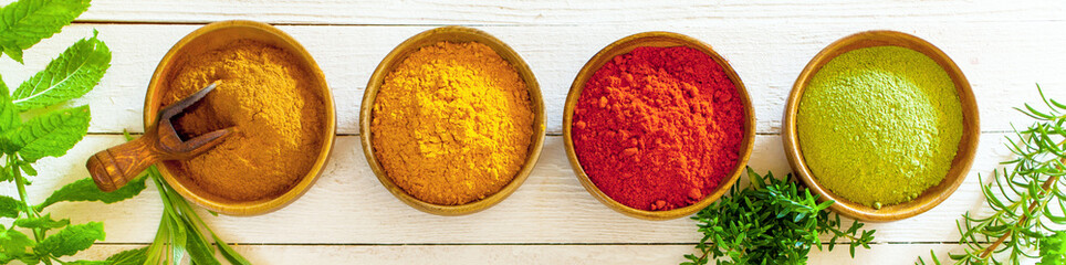 Banner with colourful spices