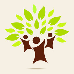Green family . ECO concept