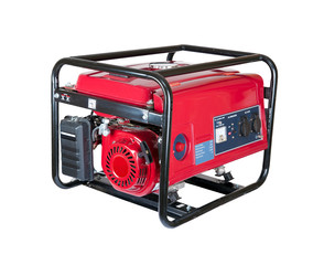 portable gasoline generator. isolated
