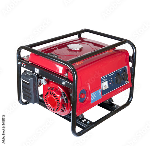 canvas print picture portable gasoline generator. isolated on a white background.