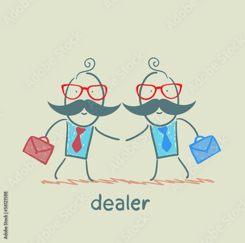 Business meeting dealers