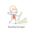 Quantity Surveyor with the documents