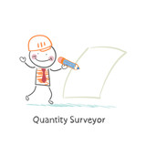 Quantity Surveyor wrote in pencil on paper