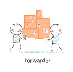 forwarder is boxes with the goods