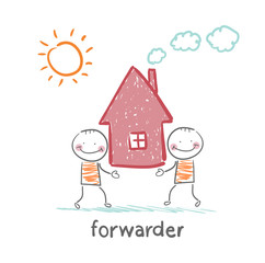 forwarder carries a house
