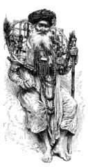 Hindu Pilgrim-Penitent - Mystique hindou
