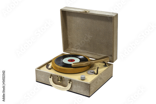 Little Retro Record Player Isolated