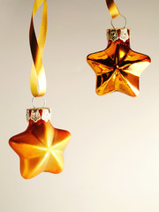 Holiday stars with copy space Studio Shot
