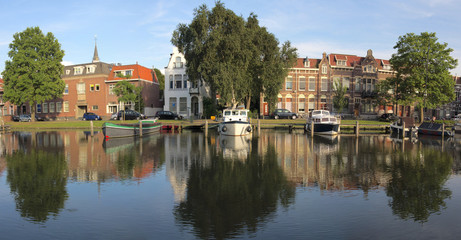 Canal in Gouda, Netherlands