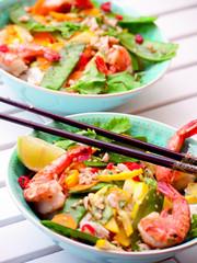 fresh glass noodle salad with shrimp