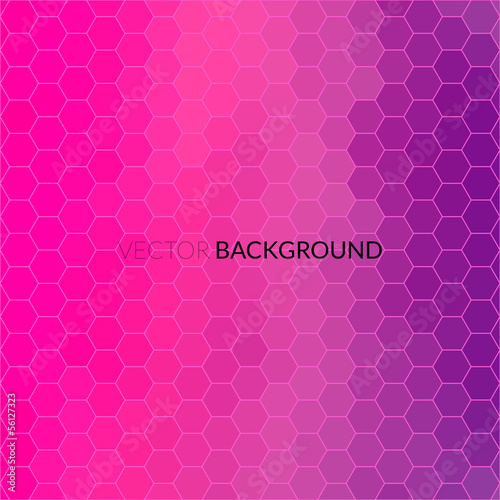 Digital hexagon pixel mosaic, bright background