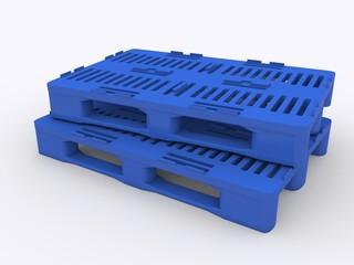 Blaue Kunstoffpaletten