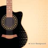 Vector background with acoustic guitar