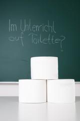 WC-Verbot während des Unterrichts