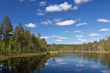 Sommer am See bei Lieksa, Finnland