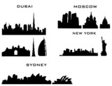 Fototapeta New York - 4 cities new york dubai moscow sydney © rhg