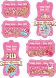 Retro labels - SET Candy