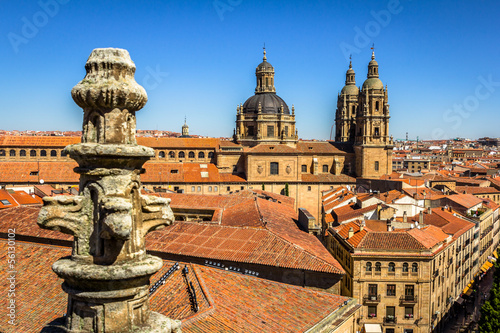 Salamanca pontifical University shot from the cathedral roof